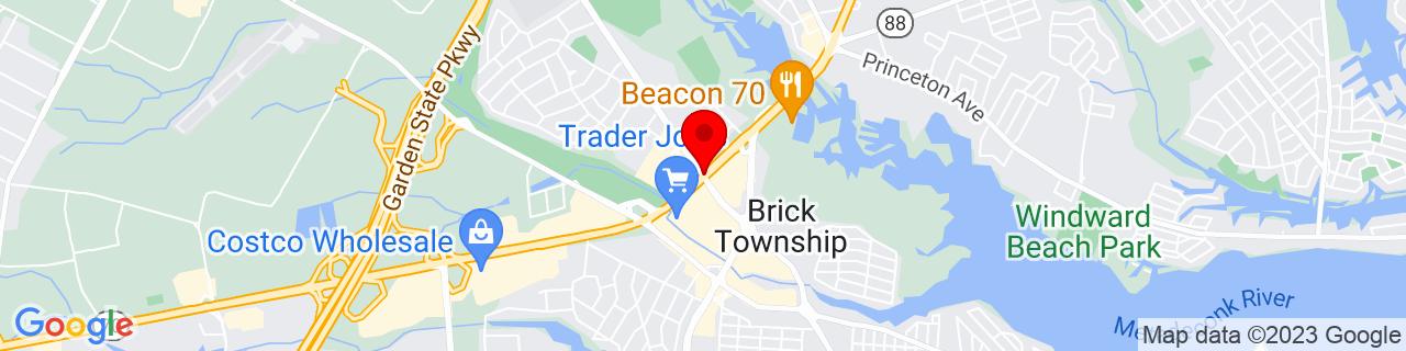 Google Map of 40.0608368, -74.1406744