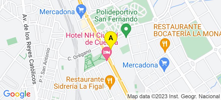 situacion en el mapa de . Direccion: HERMANOS BECERRIL 21, 16003 Cuenca. Cuenca