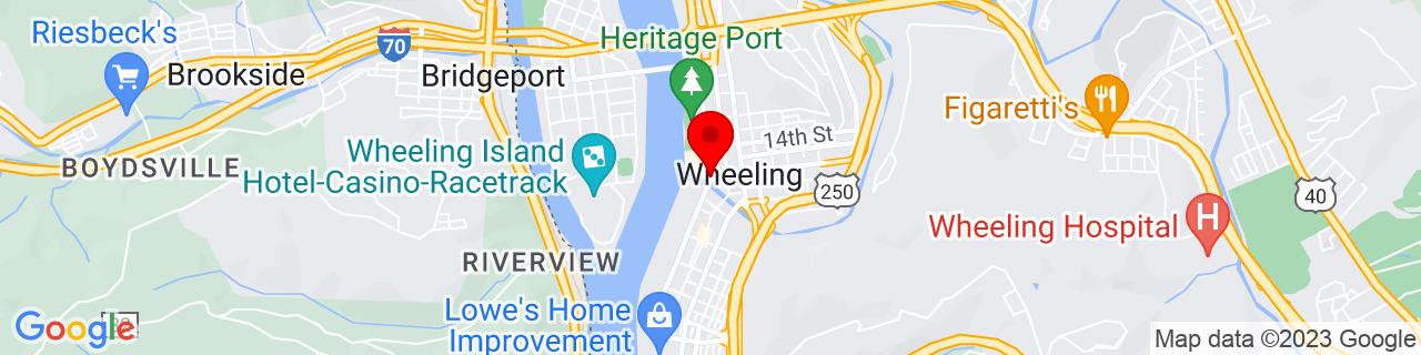 Google Map of 40.0637512, -80.72322849999999