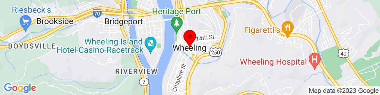 Google Map of 40.0639616, -80.7209149
