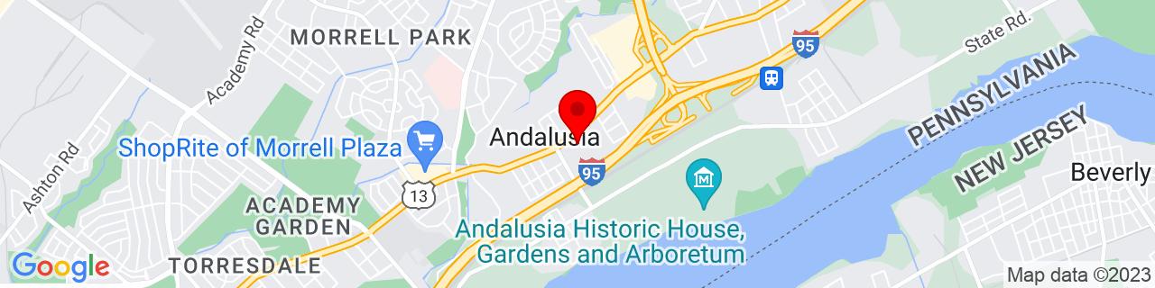 Google Map of 40.06688949999999, -74.9705585