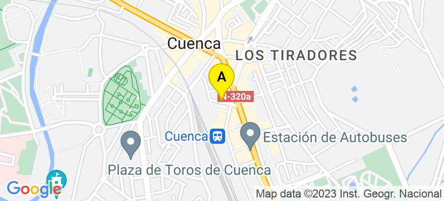 situacion en el mapa de . Direccion: C/ alicante 7, 1º c, 16004 Cuenca. Cuenca