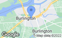 Map of Burlington, NJ