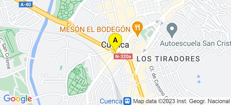 situacion en el mapa de . Direccion: Plaza de la Hispanidad nº8 1ºB, 16002 Cuenca. Cuenca