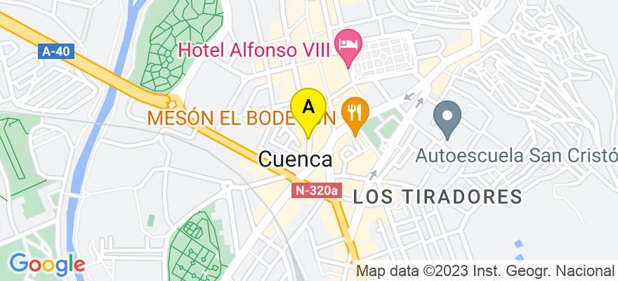 situacion en el mapa de . Direccion: calle colon 46, 16002 Cuenca. Cuenca
