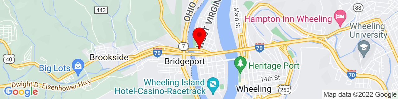 Google Map of 40.072329, -80.73605700000002