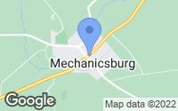 Map of Mechanicsburg, OH