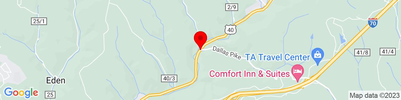Google Map of 40.0733731, -80.5989673