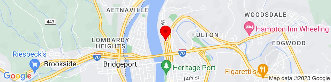 Google Map of 40.075675, -80.7250002
