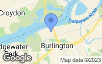 Map of Burlington, NJ