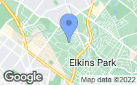 Map of Elkins Park, PA