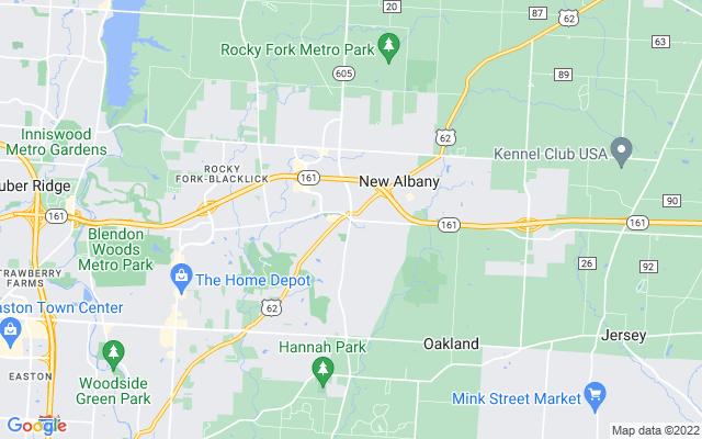 New Albany on the map