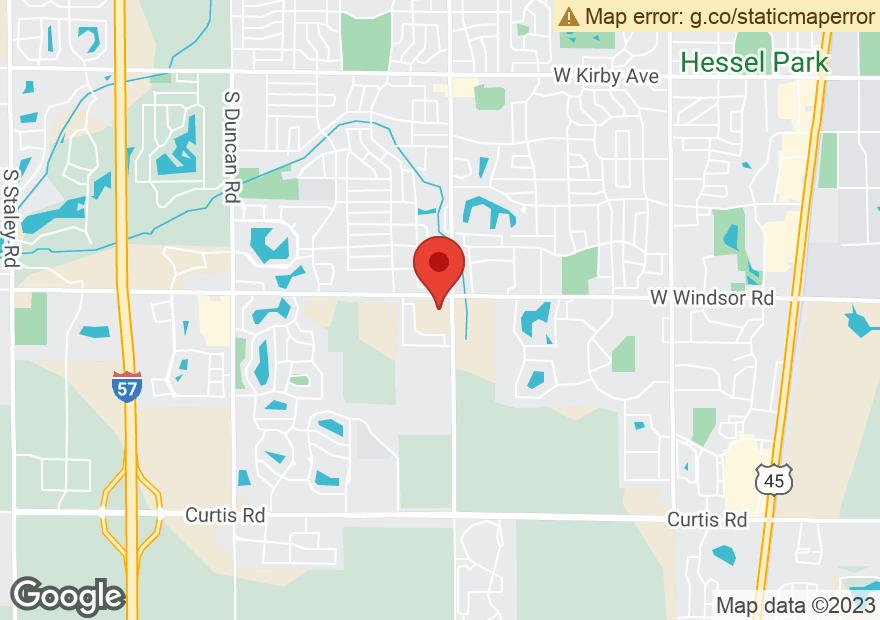 Google Map of 1801 W WINDSOR RD