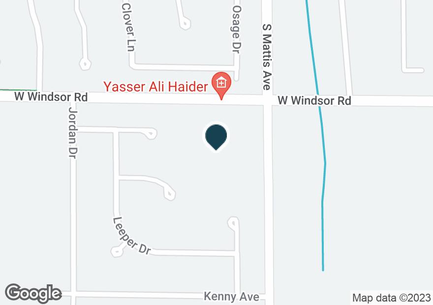 Google Map of1801 W WINDSOR RD