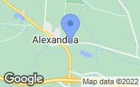 Map of Alexandria, OH