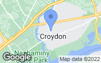 Map of Croydon, PA