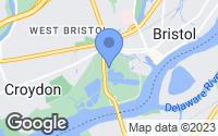 Map of Bristol, PA