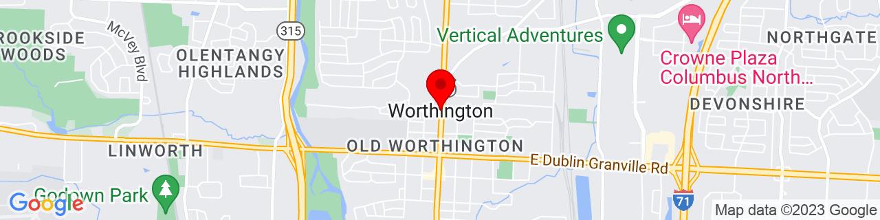 Google Map of 40.09312, -83.01796
