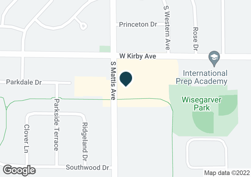 Google Map of1757 W KIRBY AVE