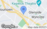 Map of Glenside, PA
