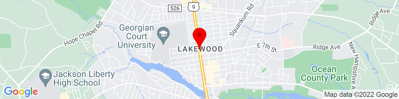 Google Map of 40.09777777777778, -74.21777777777778