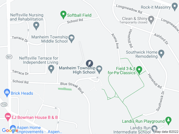 Map to Manheim Township High School Office