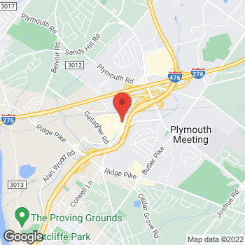 Map of Guitar Center Lessons at 2620 Chemical Rd, Plymouth Meeting, PA 19462