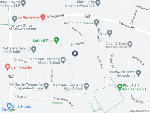Map to Manheim Township Middle School