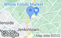 Map of Jenkintown, PA