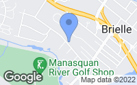 Map of Brielle, NJ