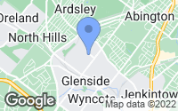 Map of Glenside, PA