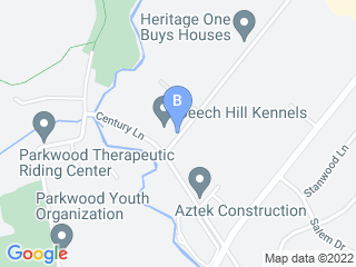 Map of Beech Hill Kennels Dog Boarding options in Bensalem | Boarding