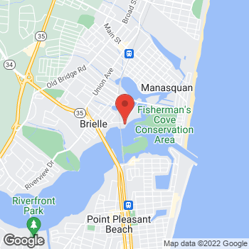 Map of Optimum WiFi Hotspot at 1 Ocean Ave, Brielle, NJ 08730