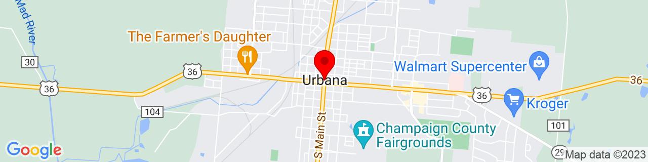 Google Map of 40.108333333333334, -83.7525