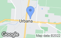 Map of Urbana, OH