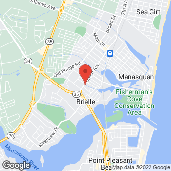 Map of Verizon Authorized Retailer - TCC at 602 Union Ave, Brielle, NJ 08730
