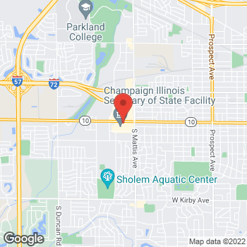 Map of Arby's at 1913 W Springfield Ave, Champaign, IL 61820