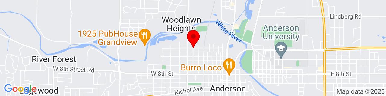 Google Map of 40.1136601, -85.6901997