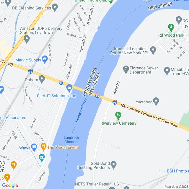 Map of Pennsylvania Turnpike Extension Bridge