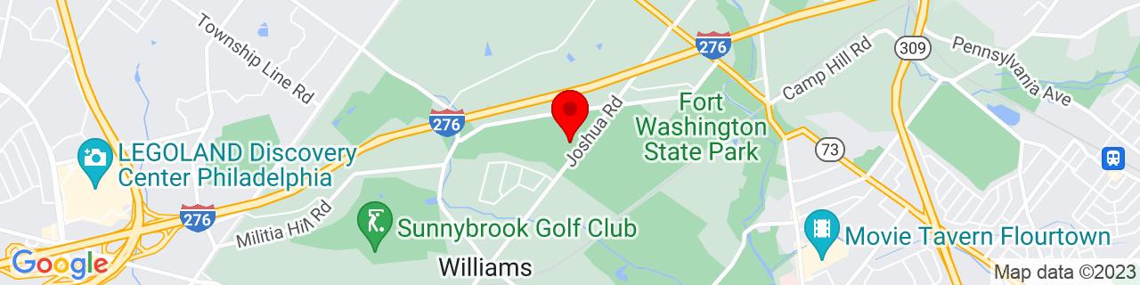 Google Map of 40.1192546, -75.2362381
