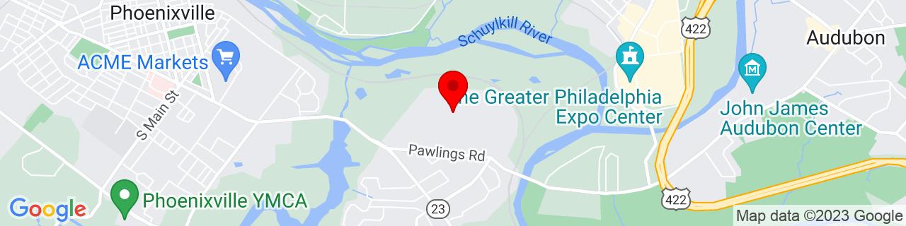 Google Map of 40.1209, -75.4795