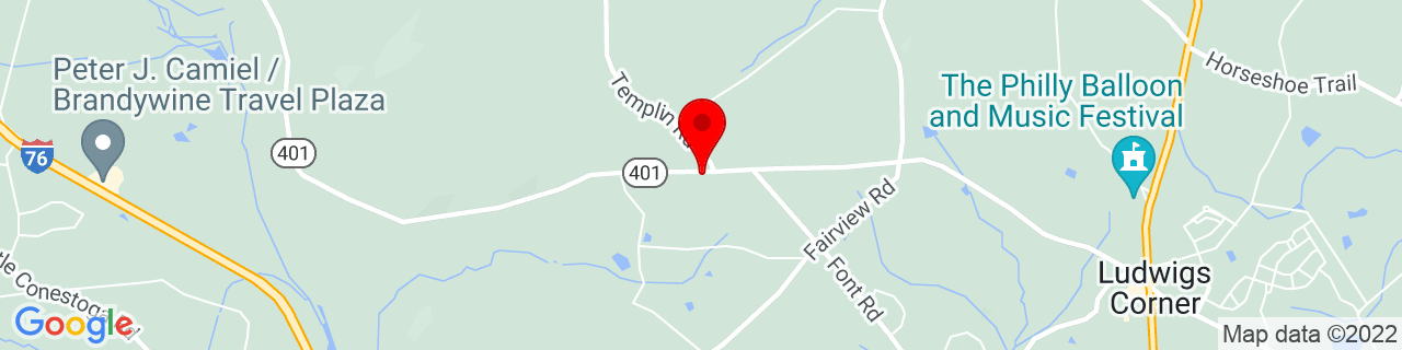 Google Map of 40.1223225, -75.72937259999999