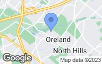 Map of Oreland, PA