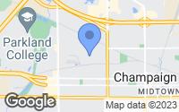 Map of Champaign, IL