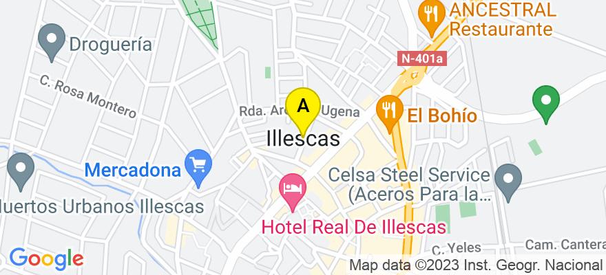situacion en el mapa de . Direccion: Plaza Almazara 5, 45200 Illescas. Toledo