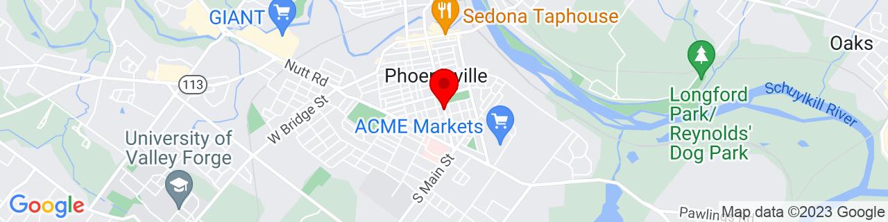 Google Map of 40.1271098, -75.5139829