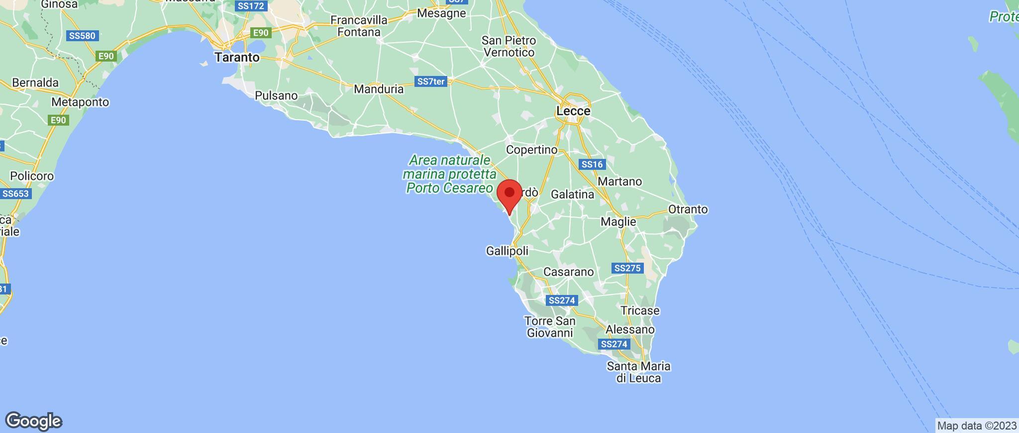 Map showing the location of Santa Maria Al Bagno