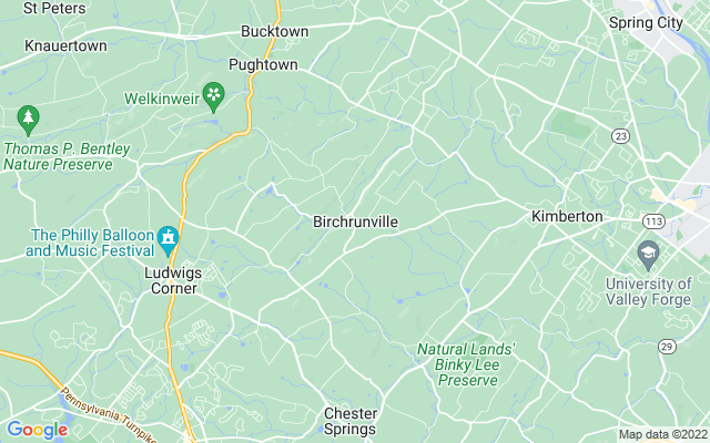 Birchrunville on the map