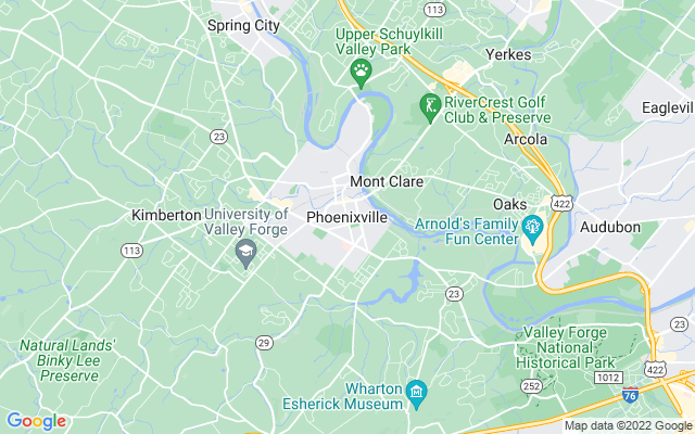 Phoenixville on the map