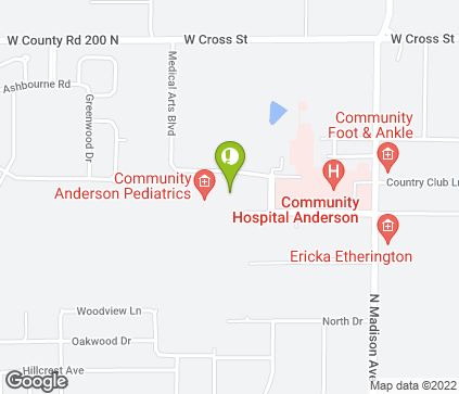 Map of 1601 Medical Arts Blvd in Anderson